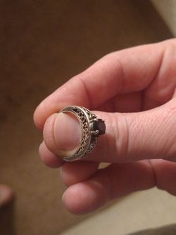 Sterling Silver And Diamond Ring Size 8 Maybe? Or 7??? for Sale in Atlanta,  GA
