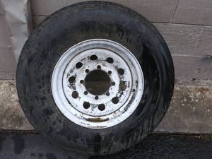 16 inch 8 lug steel rim and tire. Trailer, Dodge, Ford, Chevy, spare for Sale in Commerce, CA