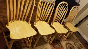 Solid wood dining chairs for Sale in Springville, UT