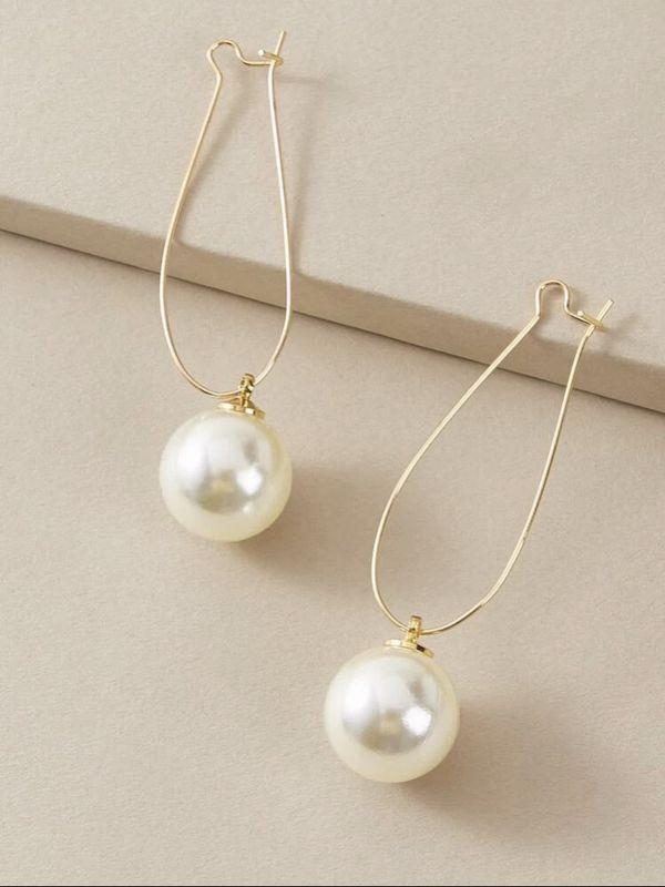 New-pearl drop earring