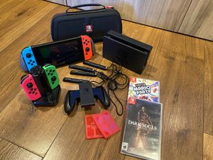 Nintendo Switch With All Accessories and More for Sale in Rancho Santa Margarita, CA