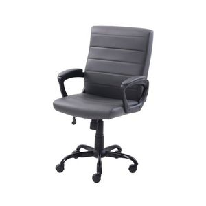 Bonded Leather Mid-Back Manager's Office Chair, Gray for Sale in Riverside, CA