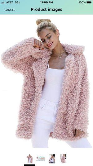 kooosin Women's Warm Artificial Soft Wool Lapel Coat Jacket Winter Faux Fur Rolls Wool Parka Outerwear XL for Sale in Las Vegas, NV