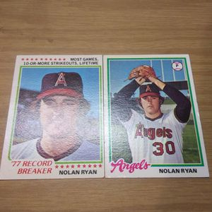 Vintage Nolan Ryan Baseball Cards Lot for Sale in Monroe Township, NJ