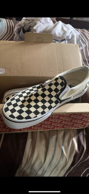 Men's Sz.10.5 Black & White Checkerboard Vans for Sale in Richmond, CA