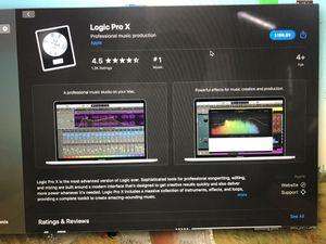 Logic Pro X for Sale in Visalia, CA