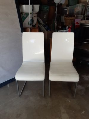 2 white chairs for Sale in Montclair, CA
