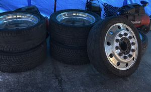 22 semi wheels with brand new tires !! for Sale in Fort Myers, FL