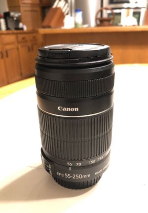 Canon lense for SLR camera 55-250 mm for Sale in Windermere, FL