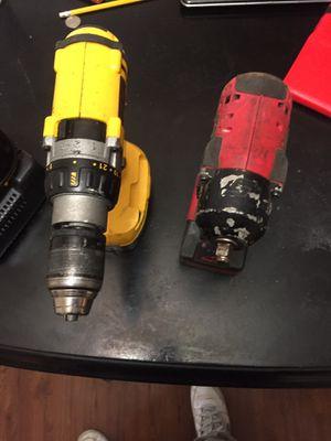 Snap on 3/8 impact driver & Dewalt hammer drill for Sale in Lanham, MD