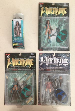 WITCHBLADE Action Figure Lot EXCLUSIVE Japanese Emerald Medieval & FATHOM for Sale in Modesto, CA