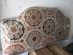Fabric Queen Headboard and matching Chair! for Sale in Plano, TX