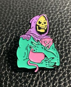 Skeletor Loves Cats Enamel Pin Masters Of The Universe Eternia He Man She At for Sale in Happy Valley,  OR