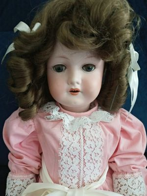 VERY RARE 1916 - 21IN ANTIQUE GERMAN C.M. BERGMANN WALTHERSHAUSEN BISQUE DOLL #5. 104 YR OLD DOLL, A WORLD COLLECTOR DOLL. for Sale in Covington, KY