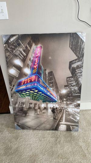 Radio city canvas for Sale in Atlanta, GA