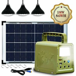 Solar generator battery pack with 3 lights! New! for Sale in Lake Norman of Catawba, NC
