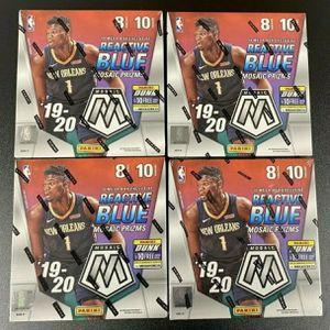 Lot of (4) 2019-20 Panini Mosaic Basketball Factory Sealed Mega Box Ja Zion for Sale in Santa Clarita, CA