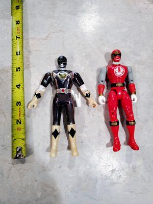 Bandai Power Rangers 1995 Metallic Black /2002 Red Ranger for Sale in Lynnwood, WA