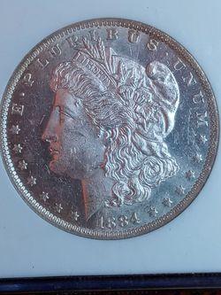 1884-O MORGAN SILVER DOLLAR MS62 *US SILVER COIN for Sale in Los Angeles,  CA
