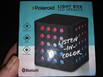 Brand NEW Poloroid Wireless Bluetooth Light Box LED Speaker for Sale in Lynchburg,  VA