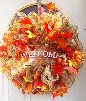 Fall Welcome Wreath for Sale in Inwood, WV
