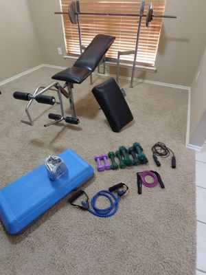 Weight Bench Set & Exercise Equipment for Sale in Forney, TX