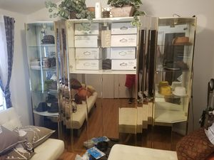 Glass Shelving and cabinet storage for Sale in Milford, CT