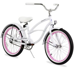White and Pink Firmstrong Kids Cruiser Bike w/ Helmet for Sale in Springfield, VA