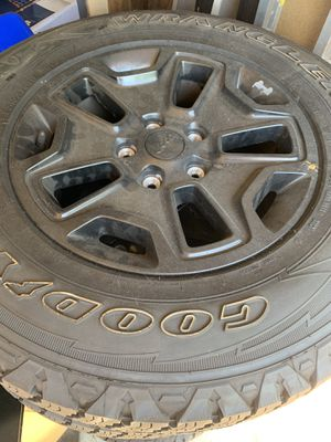 Limited Edition Jeep Wheels and Tires (Only Used 1000 miles) Spare never Used for Sale in Mt. Juliet, TN