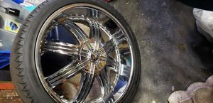 """24""""rims and tires 6 lug universal pattern for Sale in Liverpool, NY"""