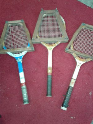 3 vintage tennis rackets for Sale in Brentwood, TN