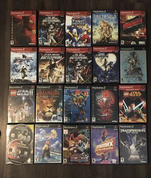 PlayStation 2 games: Star Wars, Spider-Man, final fantasy, kingdom hearts for Sale in Paramount, CA