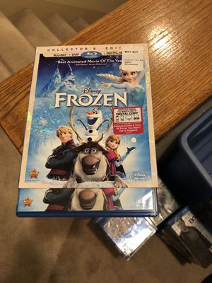 Frozen Blu Ray Movie Collectors Edition plus dvd Disney 2014 animated for Sale in Cypress, CA