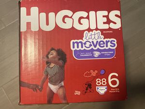Huggies little movers size 6 for Sale in Houston, TX
