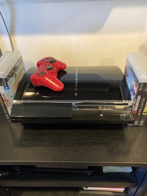 PlayStation 3 60GB w/ 6 PS3 Games & 5 PS3 Controllers for Sale in Los Angeles, CA