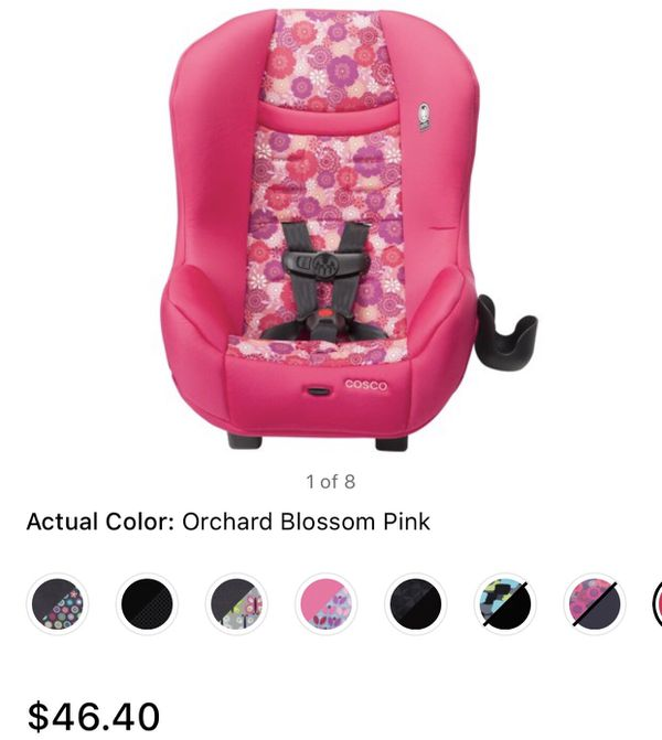 Pink car seat