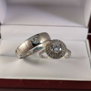 New with tag Solid 925 Sterling Silver HIS & HER WEDDING Ring Set size 11 and 6 $200 set OR BEST OFFER ** WE SHIP!!! 📦📫 ** for Sale in Phoenix, AZ