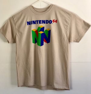 Nintendo 64 Beige Short Sleeve T shirt Size XL for Sale in Pine River, MN