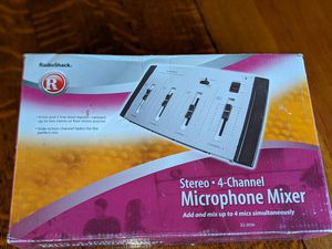 Stereo 4 Channel Microphone Mixer for Sale in Tyler, TX