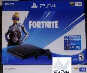 PlayStation 4 1 terabyte with fortnite edition special character brand new and sealed box for Sale in Downey, CA