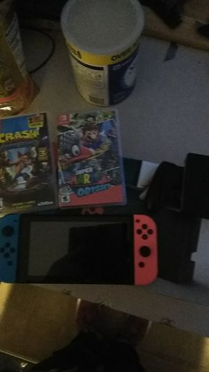 Brand new Nintendo switch.... played 2 hrs have to dock,switch 2 games and controller wit all cables for Sale in Columbus, OH