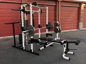 Yukon smith machine weight set home gym for Sale in Saint Charles, MO