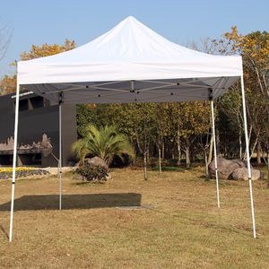 (NEW) $100 Heavty-Duty 10x10 FT Outdoor Ez Pop Up Canopy Party Tent Instant Shades w/ Carry Bag (White) for Sale in South El Monte, CA