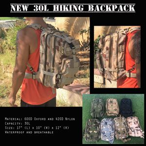 New 30L Hiking Backpack Rucksacks Compact Size Tactical (Many Colors Available) for Sale in Riverside, CA