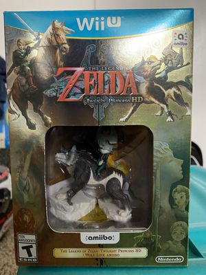 The Legend of Zelda: Twilight Princess HD with Wolf Link Amiibo for Wii U for Sale in San Jose, CA