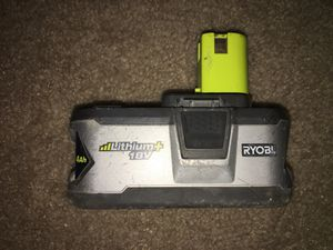 RYOBI 18-Volt ONE+ Lithium-Ion 4.0 Ah LITHIUM (Battery-only) for Sale in Aspen Hill, MD