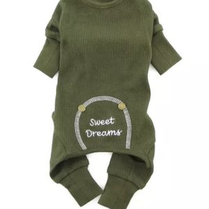 Thermal Dog Pajamas Olive Green Sweet Dreams Size Medium for Sale in Fremont, CA