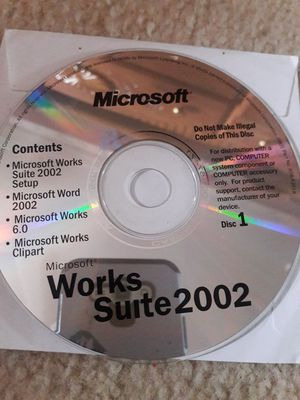 Microsoft works suite 2002 Disc 1 for Sale in Fountain, CO