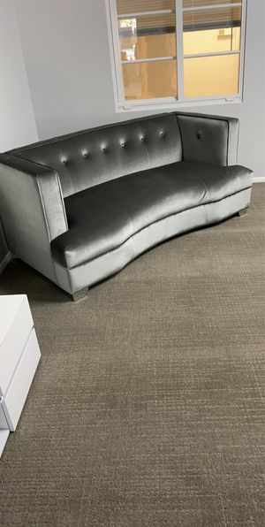 BRAND NEW!!! silver velvet couches with coffee table and tv stand for Sale in Fort Lauderdale, FL