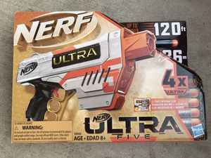 Brand New ! Nerf Ultra Five Gun Includes New Ultra Nerf Dart ! for Sale in Chino Hills, CA